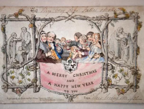 世界首张圣诞贺卡长啥样?在狄更斯博物馆可以看到