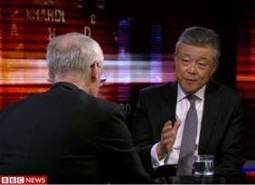 BBC《尖锐对话》专访中国驻英大使刘晓明现场实录