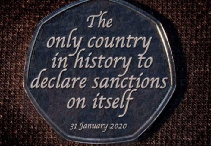"""英国""""脱欧""""纪念币1月31日发行 首发300万枚"""